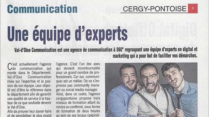 Parution de Val d'Oise Communication dans la presse