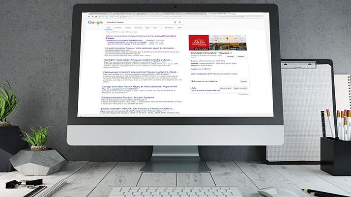 Exemple d'un référencement sur Google