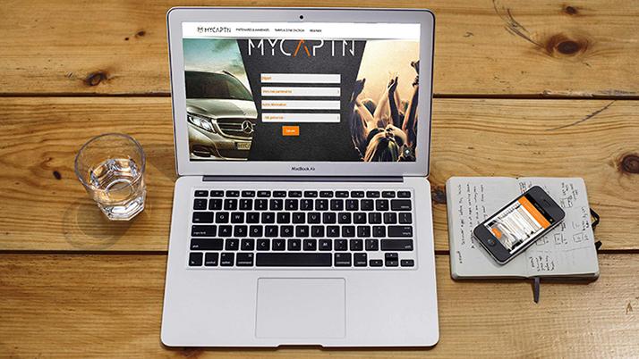 Site vitrine avec développement web spécifique MYCAPTN