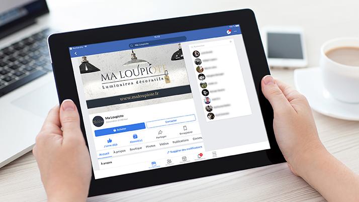 Gestion de la page Facebook Ma Loupiote