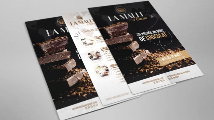 Création d'un flyer La Malle à Cacao