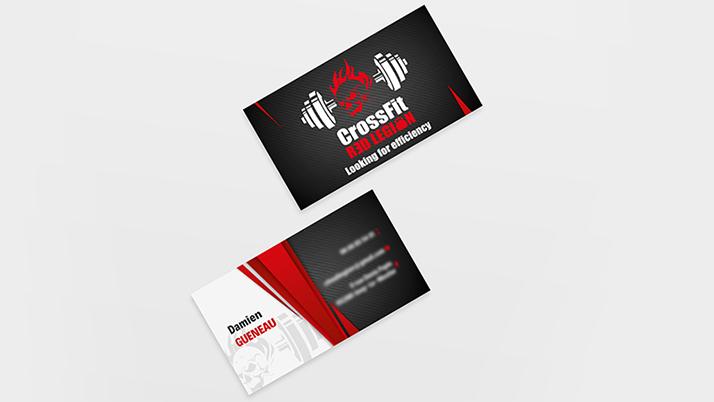 Création des cartes de visite CrossFit Red Legion