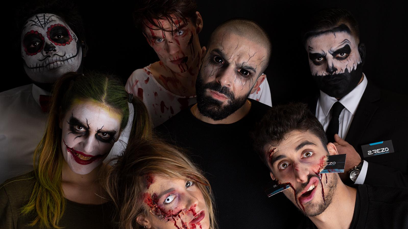 Photo Halloween de l'équipe Val d'Oise Communication