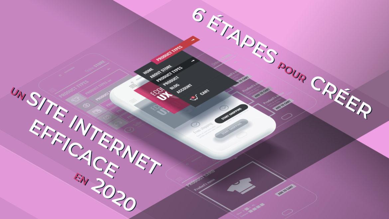 6 étapes pour créer un site internet efficace en 2020