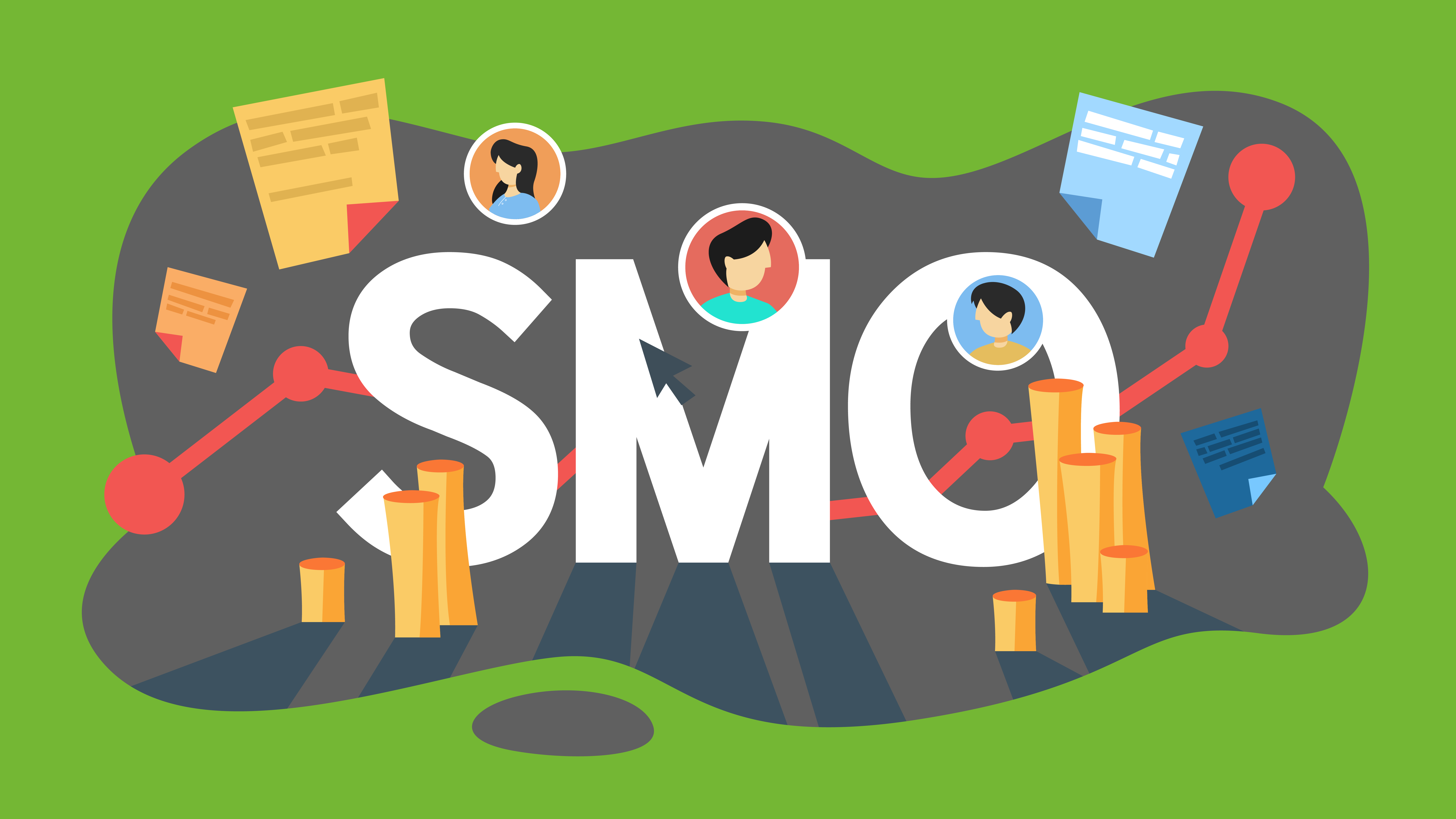 Illustration du concept de SMO ou Social Media Optimization