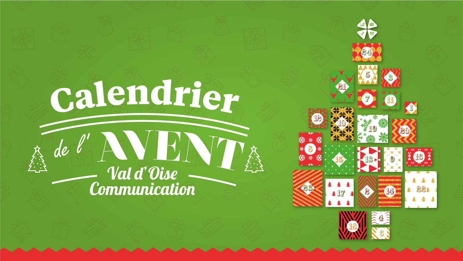 Calendrier de l'Avent Val d'Oise Communication 2019