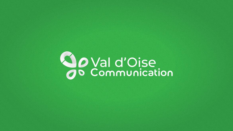 Nouveau logo agence Val d'Oise Communication fond vert