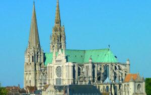 La cathédrale de Chartres dans l'Eure-de-Loir