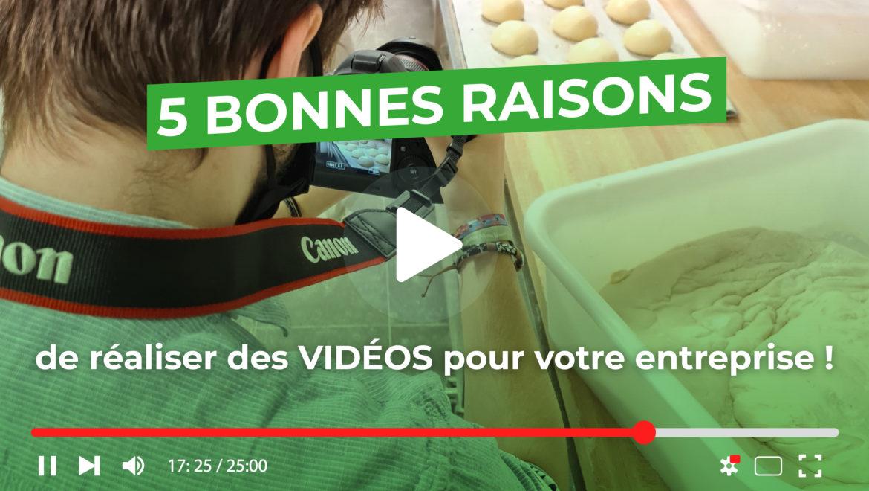 5 bonnes raisons de réaliser des vidéos pour votre rentreprise - Val d'Oise Communication