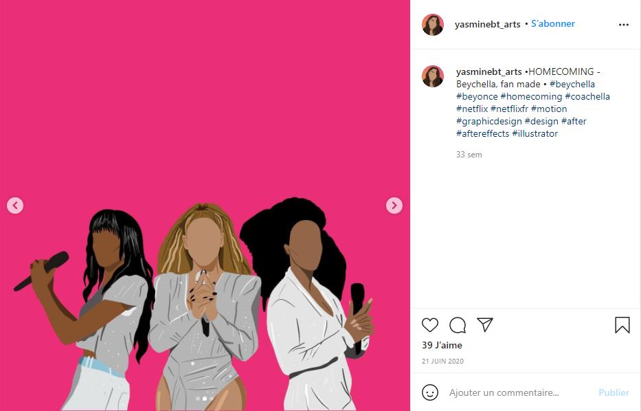 Le compte Instagram de Yasmine - Val d'Oise Communication