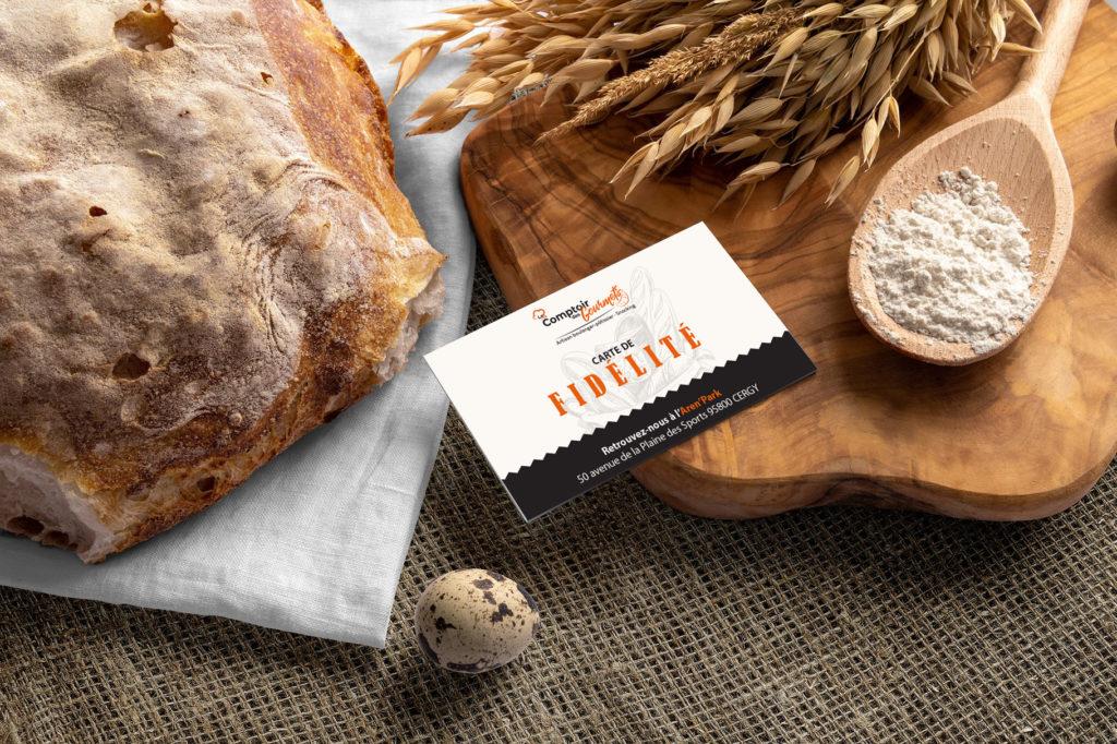 Une nouvelle carte de visite pour le Comptoir des Gourmets - Val d'Oise Communication