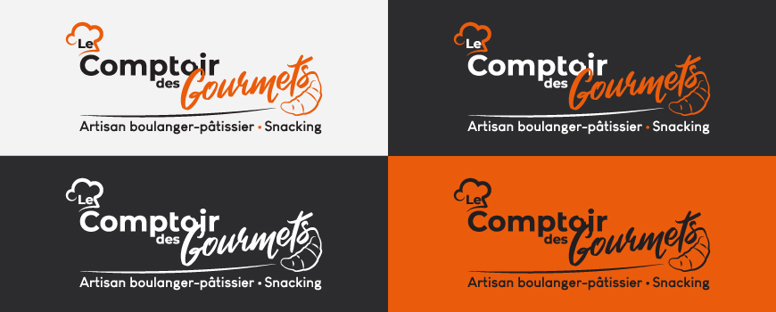 La charte graphique pour le Comptoir des Gourmets - Val d'Oise Communication